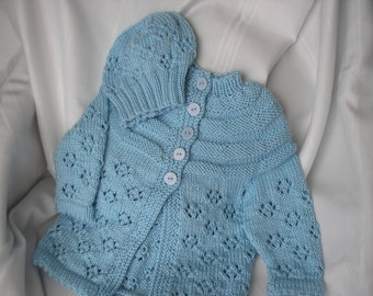 Blue Child's Sweater and Hat