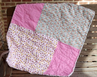 Cupcakes and Pop cycles Baby Girl Quilt
