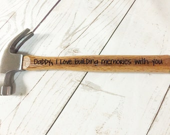 Wooden Hammer - Custom Hammer - Personalized Hammer - Christmas Dad Gift- Gift for Dad - Gift for Father - Best Dad Gift - Personalized Gift