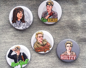 Ghostbusters - Kate McKinnon - Kristen Wiig - Holtzmann Single Button Pin Badge