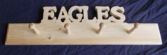 Wooden Eagles Shaker Peg Rack