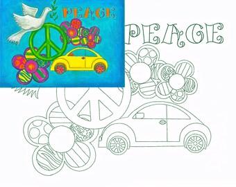 Peace, Watercolor painting kit