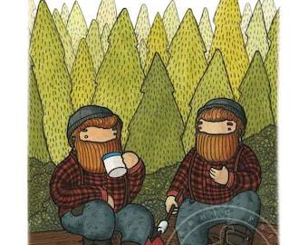 Digital Poster Beardy Bear Twins