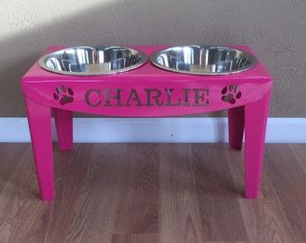 bowls feeder custom bowl elevated wanelo holder dog feeders on personalized shop