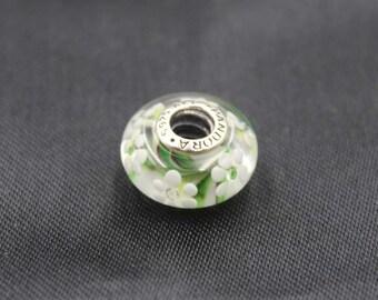 Authentic Pandora    Murano Glass Wild Flowers with cz 791638CZ