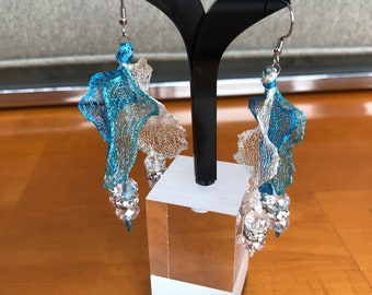 Three Strand WireLace Ribbon Earrings