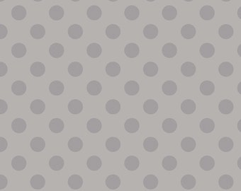 Medium Tone on Tone Dots Gray:  Riley Blake Designs Cotton Basics 1 Yard