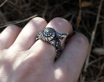 Snail Ring - Sterling Silver - Garden Creature Ring - Jamie Spinello