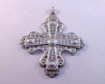 1972 Reed & Barton Sterling Christmas Cross Ornament