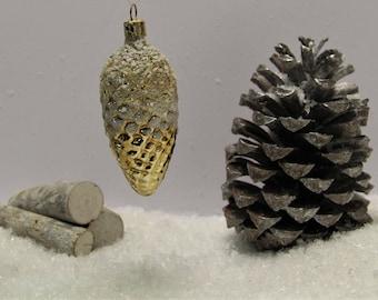 Glass pine cone ornaments