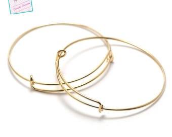 """4 brackets """"Bangle"""" bracelet, gold"""