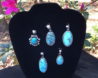 American Indian turquoise pendant