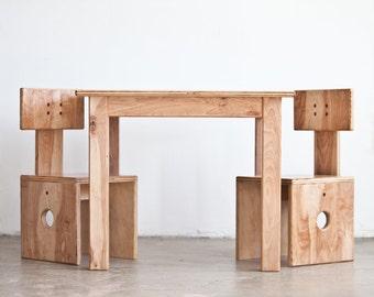 Children's Wooden Furniture Set