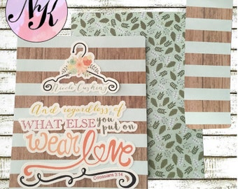 Colossians 3:14 Planner Cover, Planner Cover, Hanger cover,inspiration print, Framable, use with Erin Condren Planner(TM), Happy Planner