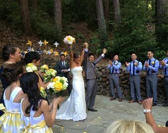 Wedding favor Birthday favor -12 Mini Pinwheels (Custom orders welcomed) wedding decoration isle runners