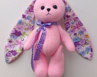 Stuffed animal Toy rabbit Soft toy hare Stuffed bunny with long ears baby shower girl Soft toy rabbit Children's Gift for her Toy for baby