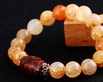 Yellow Agate bracelet