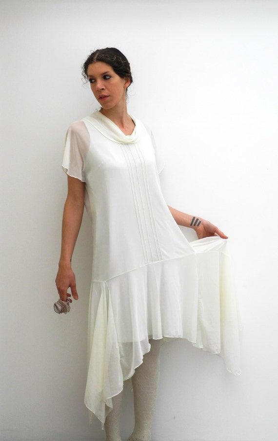 1920s Day Dresses, Tea Dresses, Mature Dresses with Sleeves sheer wedding gown 1920s dress inspired flapper dress ivory and pale mint greensheer wedding gown 1920s dress inspired flapper dress ivory and pale mint green $385.60 AT vintagedancer.com