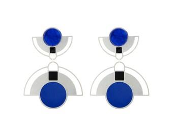 Woman's Dangle Earrings, Geometric Earrings, Statement Earrings, Plated Earrings, Elegant Earrings, Women's Drop Earrings, Large Earrings