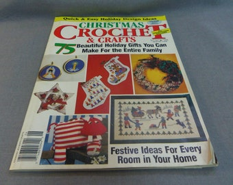 Christmas Crochet and Crafts, Country Accents Crafts, 1988 Crochet, Cross Stitch, Sewing, Knitting, Needlework