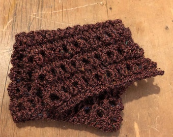 Knitted dishcloth cotton natural dyed