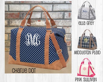Monogrammed Weekender Bag, Personalized Overnight Bag, Monogram Travel Bag, Large Tote Bag, Weekend Travel Bag, Carry On Bag, Cute Luggage