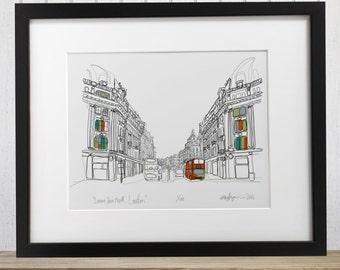 Regent Street London Limited edition Giclee Print