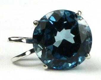 London Blue Topaz, 925 Sterling Silver Pendant, SP088