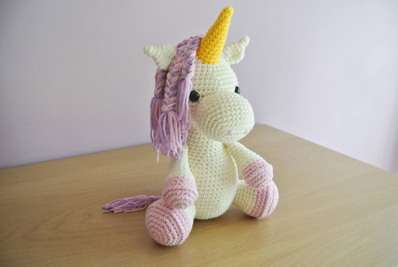 Amigurumi Unicorn : Crochet unicorn amigurumi handmade crochet amigurumi toy