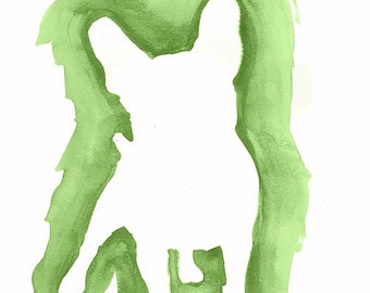 Watercolor Bulldog print, Mi Designer Styling  wall art print, printable art, printable pet, print watercolor art, bulldog print.