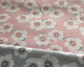 4349 - Cherry Blossom Cotton Fabric - 62 Inch (Width) x 1/2 Yard (Length)