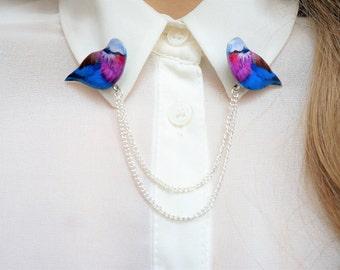 collar pins , collar tips , sweater guard , chain collar , collar chains , chain pins , chain brooch , double brooch