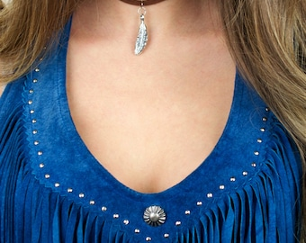 Double Suede Variety Charm Choker Necklace