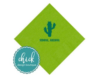 Cactus & Event Location Beverage Napkins Wedding Decor Fun Wedding Party Gifts Wedding Anniversary Party Gifts Custom 1D324b