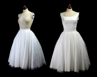 Astrid - Silk Chiffon Full Circle Midi Bridal Skirt - Made to Order - Free Shipping Worldwide