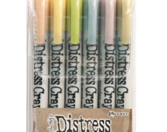 Ranger Tim Holtz Distress Crayons - Set # 8 - Water Reactive Pigments
