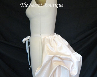 Ivory bustle, tie on bustle in white or ivory