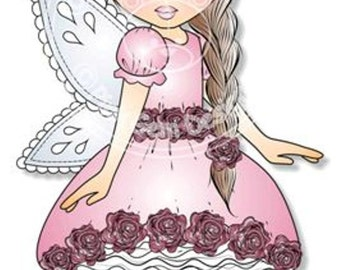 Digital (Digi) Fairy Evie  Stamp. Cute Girl. Girl Birthdays