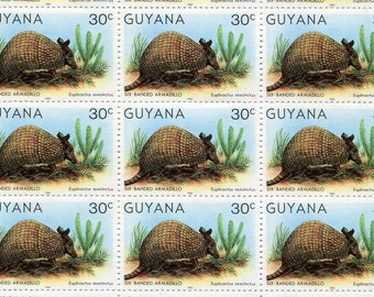 Armadillo Stamps/50 Unused Stamps/ Stamps From Guyana