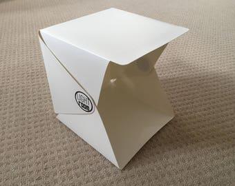 LED Mini Cube Photo Studio, Compact Lighting Tent, Portable Softbox, Foldable Light Box incl. 2x Backdrops for iPhone Smartphone
