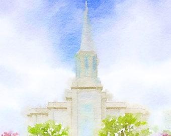 St. Louis Temple Watercolor