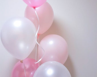 Pearl & Blush Pink Balloon Bouquet