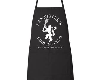 Lannister's Cooking Club Game Of Thrones Funny Kitchen Apron