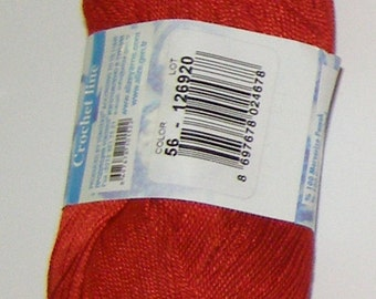 Alize Miss crochet thread size 10, 100% mercerized cotton, #56 red