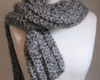 Squirrel Scarf - Crochet Pattern - Super Chunky Scarf - Instant Download PDF