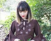 Birds Nest Fungi Dress - Handmade by Alice