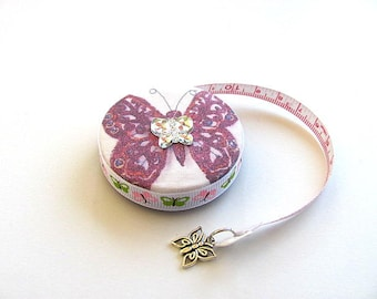 Tape Measure Purple  Butterfly  Retractable Measuring Tape