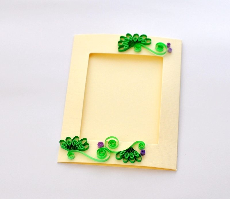 Paper Quilling Photo Frame Greeting Card Paper Picture Frame