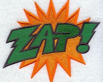 Comic Book ZAP geborduurde bloem Sack Hand/schotelhanddoek cartoon