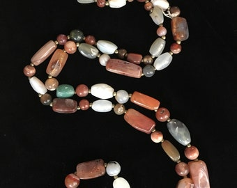 Agate Beggar's Beads Necklace